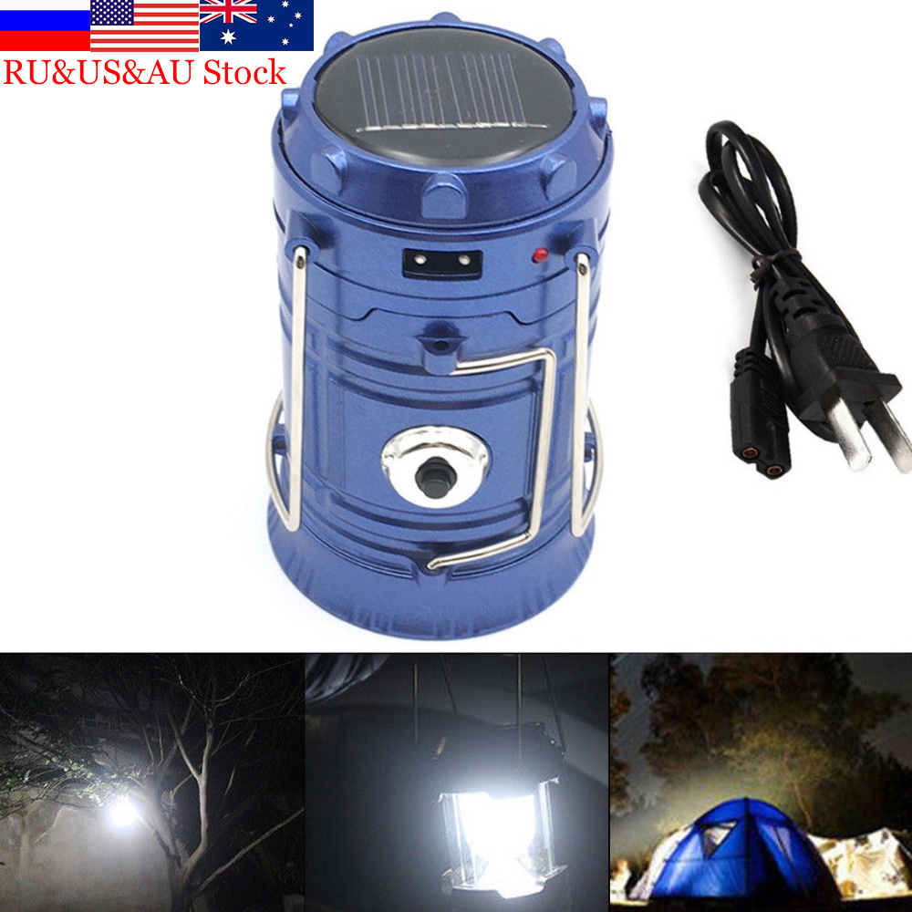 ZK50 Ulkovalaisimet Valaisin LED 6LEDs Solar Power Collapeable kannettava LED ladattava käsivalaisin Camping Lantern Light
