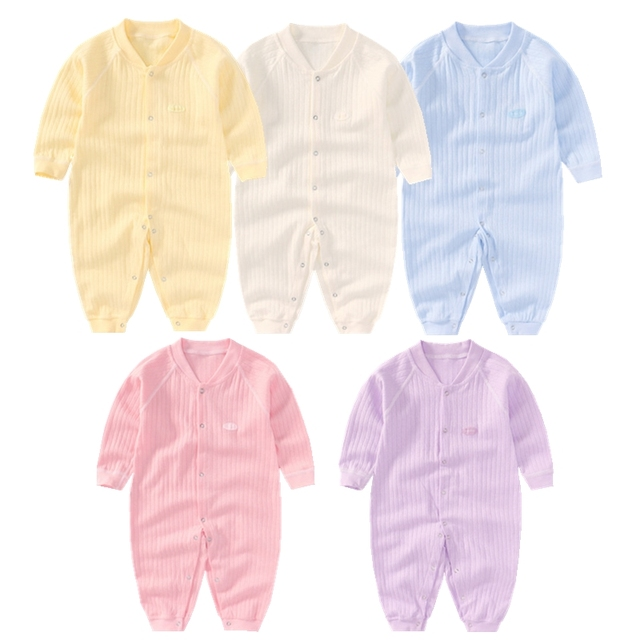 44a7ebadf89b Newborn Baby Unisex Clothes Spring Cotton Baby Boy Clothes Solid ...