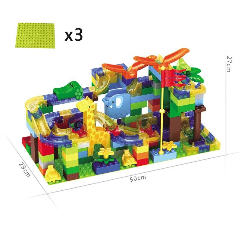 168 pièces Construction Marbre Course Run Labyrinthe Boules Piste blocs de Construction grande taille Éducatifs Briques compatible avec Legoed Duploed