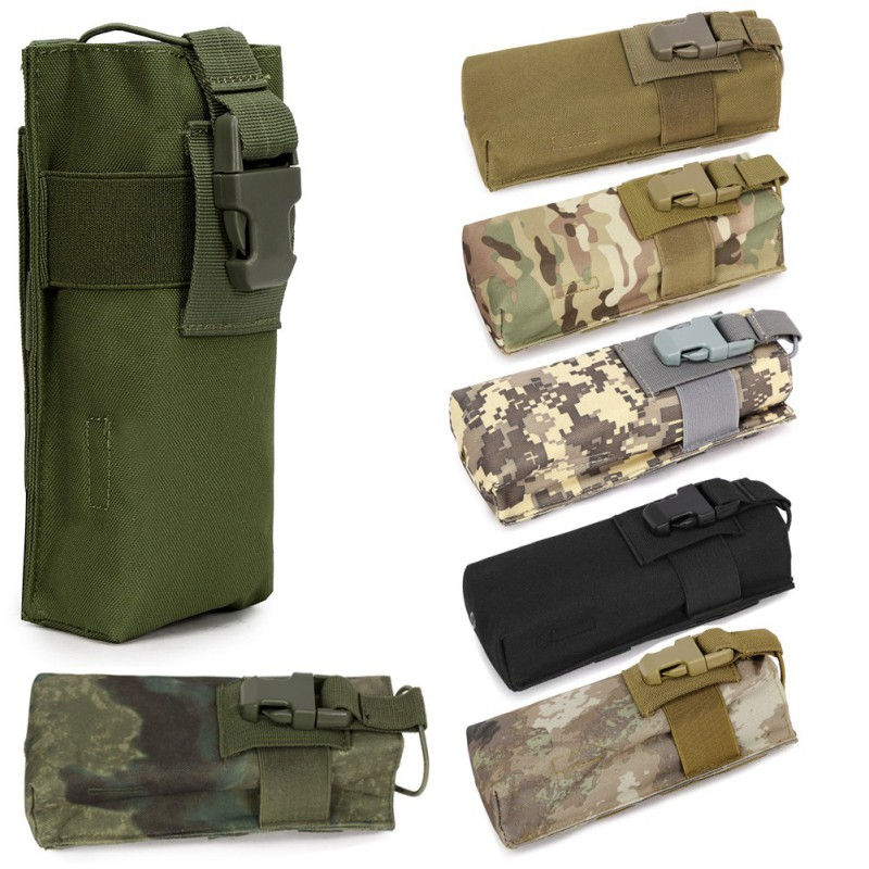 Outdoor Military Tactical Airsoft Paintball Hunting Bag Molle Radio Walkie Talkie Pouch Sports Water Bottle Canteen Bag MOLLE