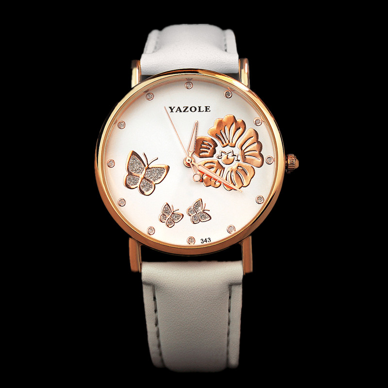 YAZOLE Women's Watches Rose Gold Watch Women Watches Rhinestone Ladies Watch kol saati montre femme relogio feminino reloj mujer new luxury rhinestone watch women watches ladies watch girl cute bracelet watches hour montre femme relogio feminino reloj mujer