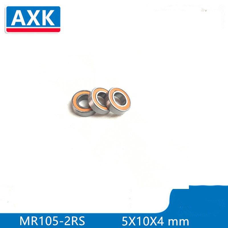 10PCS MR105-2RS Rubber Metal Ball Bearing Bearings Blue MR105RS 5x10x4 mm