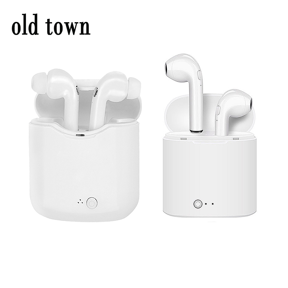 I7S TWS Earbuds True Wireless Bluetooth Double Earphones Twins Earpieces Stereo Music with Charging Box for Apple Iphone 8 X 7 6