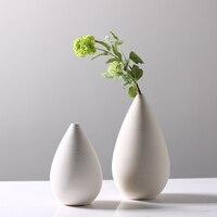 Creative Thread White porcelain Tabletop Vase modern simple household decoration modern flower Vase Home Garden Decor