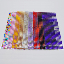 504Pcs/set 6MM Flatback Rhinestone Self Adhesive Stick On Diamond Sparkle Gems DIY Crafts Decor For Computer Mobile Phone 9Z