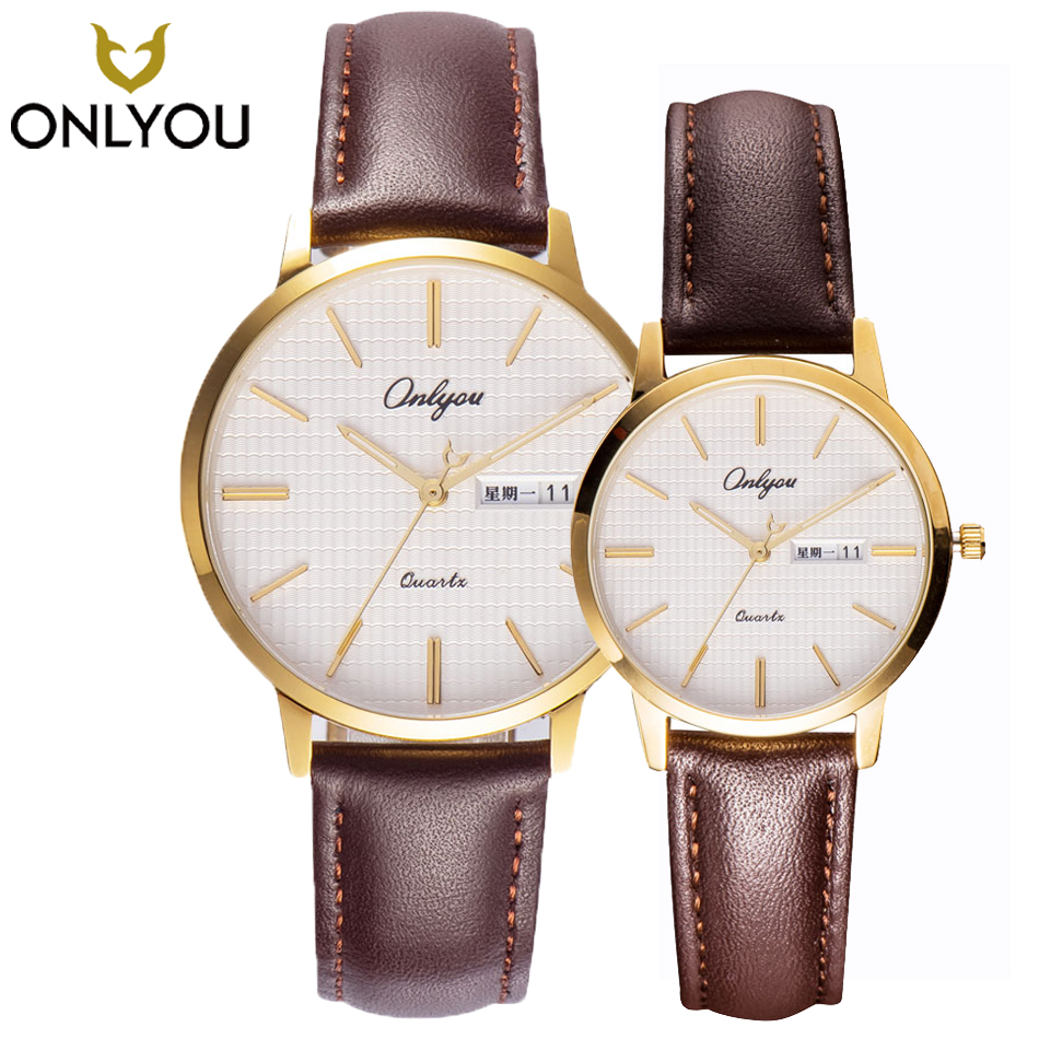 2017 cool Wave table face watches Mens Top Brand Luxury Quartz di Watch ONLYOU lovers Fashion Casual Business women Date display top 10 viaggio di nozze