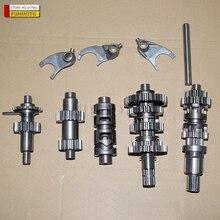 Eixo principal/tambor de velocidade variável/engrenagens reversas/garfos adequados para o vento zongshen/shineray/shipao motor gg refrigeração