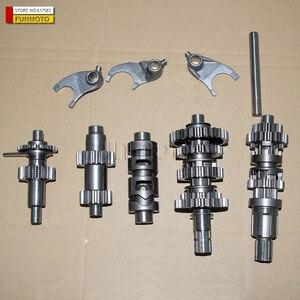 Image 1 - Główny wał przekładni/bęben o zmiennej prędkości/bieg wsteczny/widelec garnitur dla ZONGSHEN/SHINERAY/SHIPAO chłodzenie wiatrowe CG250 silnik