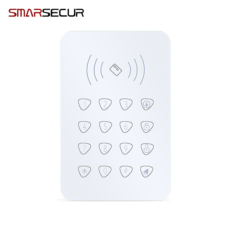 RFID Touch Keypad With RFID Function /Door Bell Function For wireless Wifi GSM Alarm System wireless smoke fire detector for wireless for touch keypad panel wifi gsm home security burglar voice alarm system