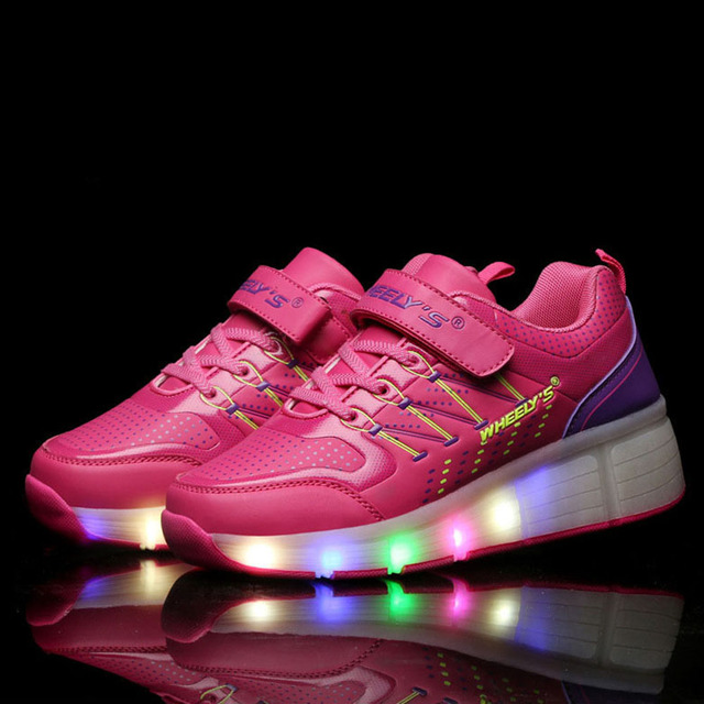 Kids Shoes Glowing Sneakers with Wheels Children with Wheels Kids Roller  Skate Shoes Led Light Up for Boys Girls tenis infantil 34e26ae97978