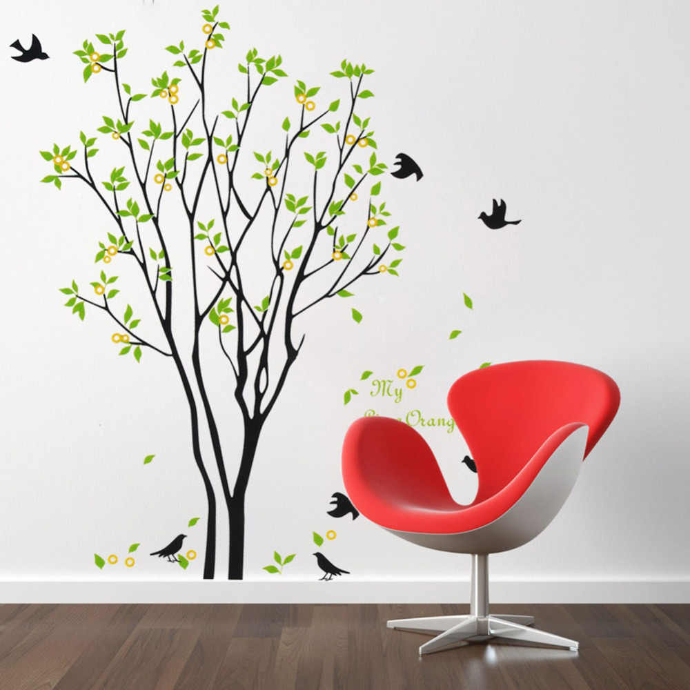 Removable Huge Birds Sing On the Tree Wall Stickers Home Living Room Kids Room Decorations Decals