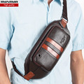 2015 new arrival famosa marca de couro genuíno bolsas pacotes de cintura para homens baú bolsa fanny masculino couro pequenos sacos do mensageiro