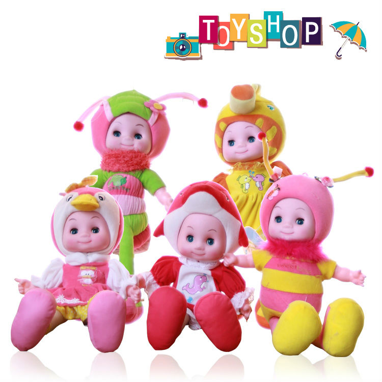 1 PCS High quality Will sing Russian songs animal dolls/Bees Penguinsm S Dolphins hippocampus budwortuffed animals