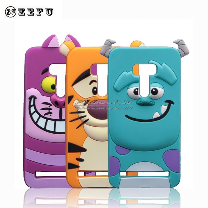 Cute Cartoon Sullivan Case For ASUS Zenfone Selfie ZD551KL 5.5 inch New Monsters Sulley Tiger Cheshire Cat Silicone Cover