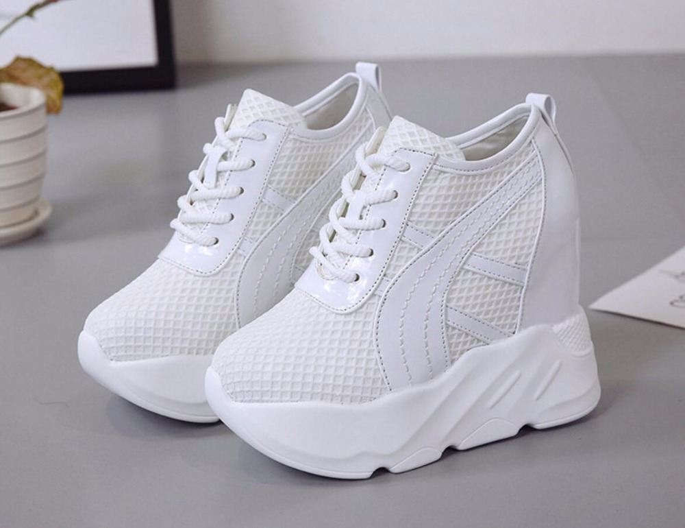 2018 Summer Fashion Women Casual Shoes Mesh Breathable Thick bottom Platform tenis feminino swomen Trainers Lady Valentine Shoes mwy women breathable casual shoes new women s soft soles flat shoes fashion air mesh summer shoes female tenis feminino sneakers