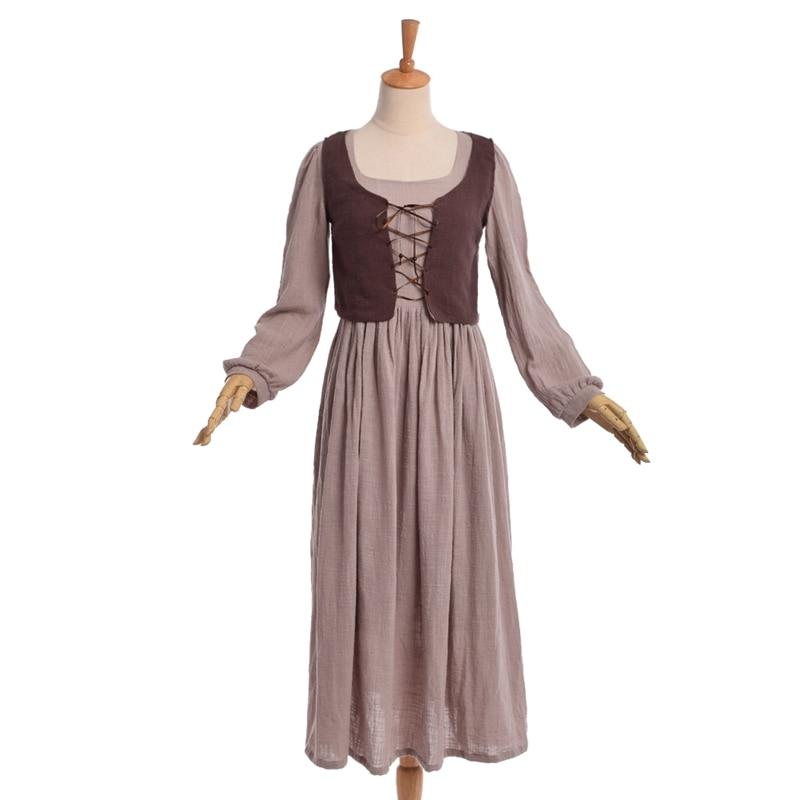 Discount Vintage Celtic Gothic Corset Wedding Dresses With: 1pc Vintage Medieval Maid Dress Corset Vest Country Style