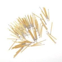 100 PCS P100-G2 Test Probe Phosphorus Copper Tube Spring Length 33.35m Needle Diameter 1.36mm