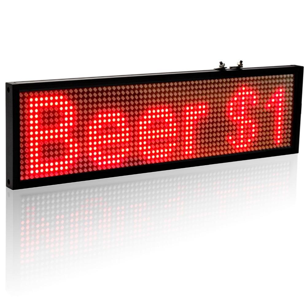 Image 2 - 34 см P5 Smd красный Wi Fi светодиодный знак для помещений, открытый знак, программируемый прокручивающийся дисплей промышленный класс, инструменты для бизнеса-in Светодиодные дисплеи from Электронные компоненты и принадлежности on AliExpress
