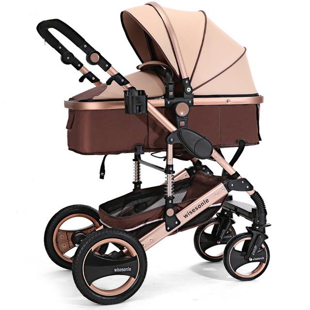 Paisagem Da Liga De Alumínio Portátil Ultra Alta Deitado Bebê Carrinho de bebê Carrinho de Suspensão Do Carro Das Crianças Em Nome De Atacado