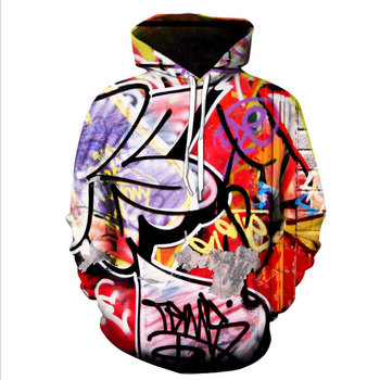 Sweat Capuche Hip Hop Graffiti