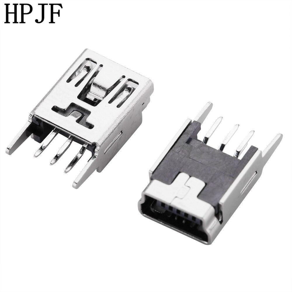 FEMALE A USB SOCKET CONNECTOR 5x Conector USB TIPO A Hembra PCB 90 Grados