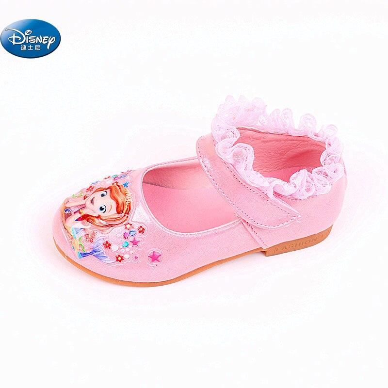 Sophia Princes chaussures décontractées filles 2018 printemps nouveau style Sofia la première princesse doux dessin animé chaussures Europe taille 26-30