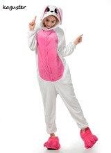Unisex  Lovers Animal Rabbit Onesie Adult One Piece Hallowen Cosplay Costume Pajamas Sleepwear Homewear Kugurumi  For Men Women