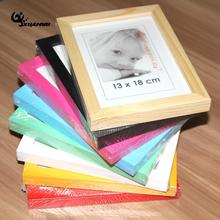 Solid Wood Photo Frame Picture Frames Tabletop Pure Color Rectangle Photo Frames Different Sizes For Choose