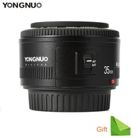 Yongnuo 35mm lens YN35mm F2 lens Wide angle Large Aperture Fixed Auto Focus Lens For Canon Nikon Dsrl Camera With Cleaning Cloth