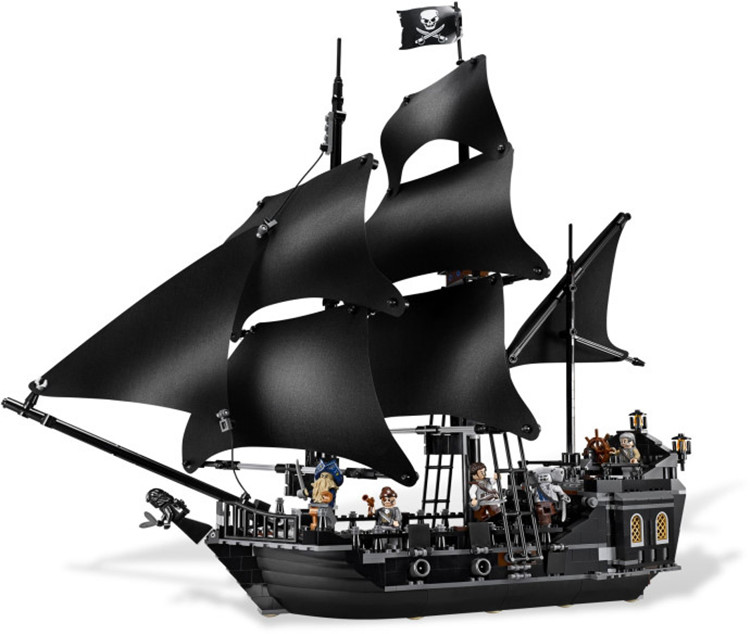 Toys CHINA BRAND L6006 self-locking bricks Compatible with Lego Pirates of the Caribbean Black Pearl 4184  no original box kazi 608pcs pirates armada flagship building blocks brinquedos caribbean warship sets the black pearl compatible with bricks