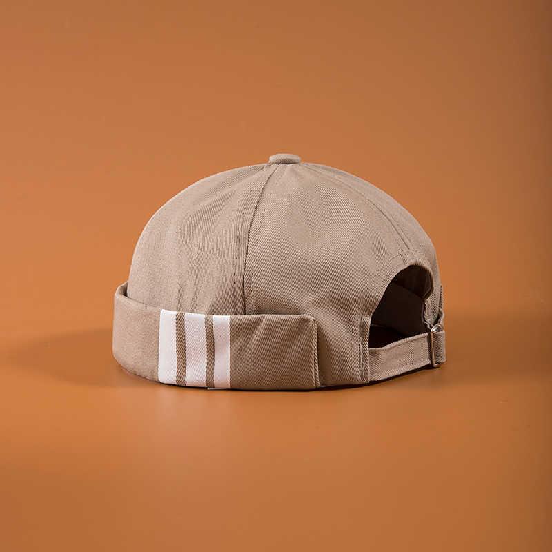 الرجال الصيف القطن Brimless Skullies قبعة خمر الحضرية فريد الشارع المحمولة دوكر القبعات متعددة الأغراض ميكي قبعة صغيرة