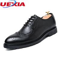 Men S Brogues Oxford Black Dress Business Casual Crocodile Pattern Bullock Patent Leather Shoe Pointed Toe