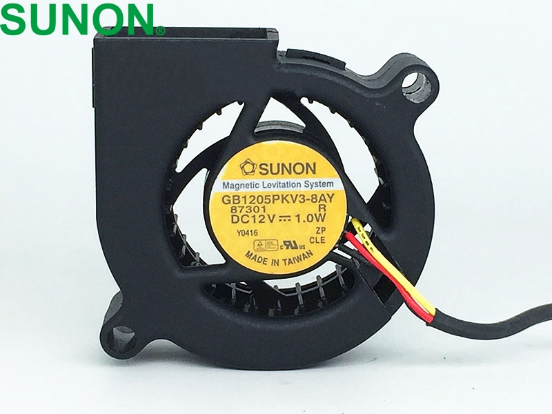 1PCS For SUNON GB1205PKV3-8AY DC12V 1.0W 3Pin Maglev Cooling Fan