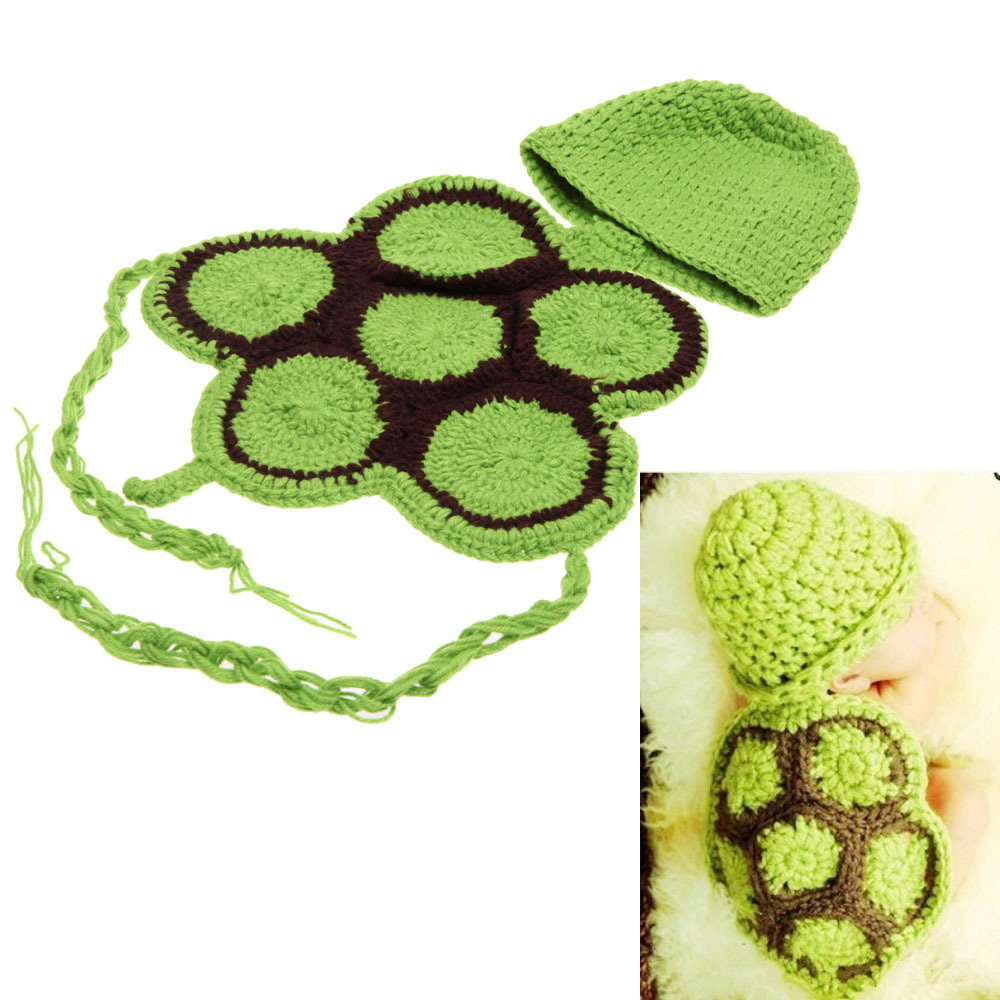 Free Shipping Newborn Baby Crochet 3 Styles Turtle Photo Props ...