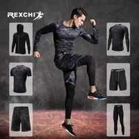 REXCHI Männer der Trainingsanzug Kompression Sport Anzug Gym Fitness Kleidung Training Übung Workout Strumpfhosen Laufen Jogging Sport Tragen