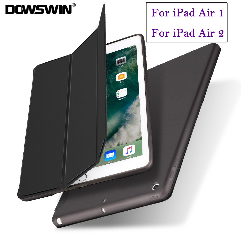 For iPad Air Case PU Leather Smart Case for iPad Air 2 Soft Cover For iPad Air 1 2 Magnetic Auto Wake Up Sleep TPU Back coverFor iPad Air Case PU Leather Smart Case for iPad Air 2 Soft Cover For iPad Air 1 2 Magnetic Auto Wake Up Sleep TPU Back cover
