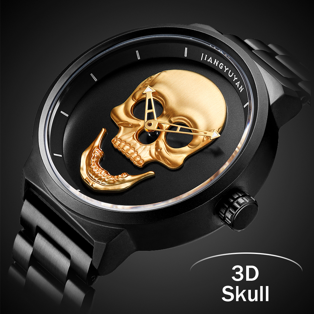 Hot New Pirate Skull Style Quartz men Watches Brand Men Military Stainless Steel Men Sports Watch Waterproof Relogio Masculino