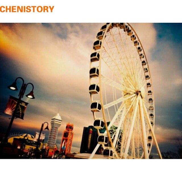 CHENISTORY Romantic Ferris Wheel DIY Painting By Numbers HandPainted ...