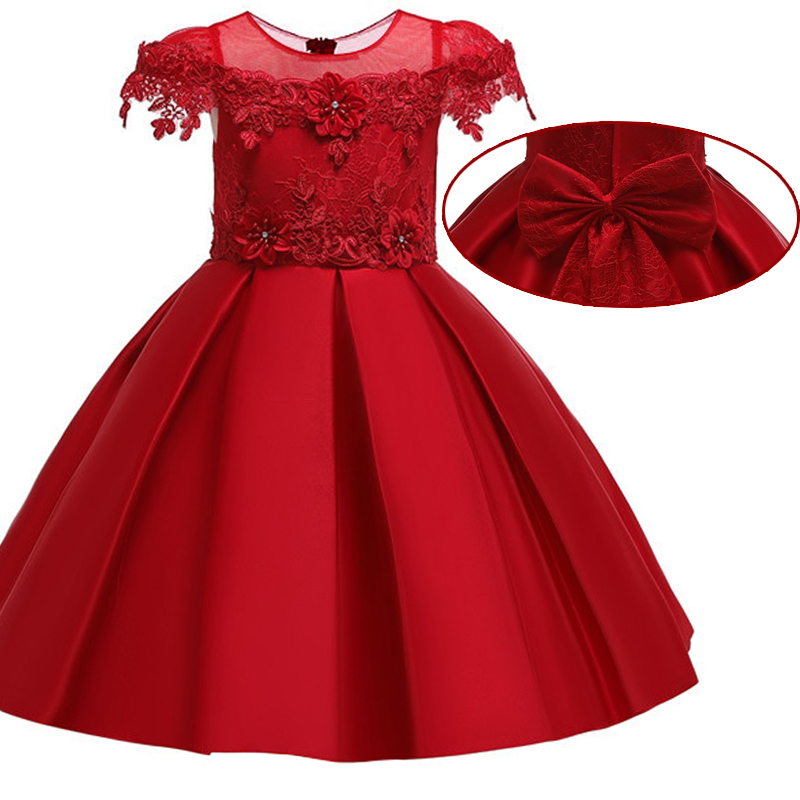 Baby   girl   graduation dance performance short-sleeved Party   dress     flower     girl   Bridesmaid Butterfly Embroidery Party   Dress
