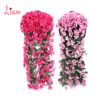Violet Wall Hanging  Artificial Flowers Home Decoration Preserved Country Decor Spring