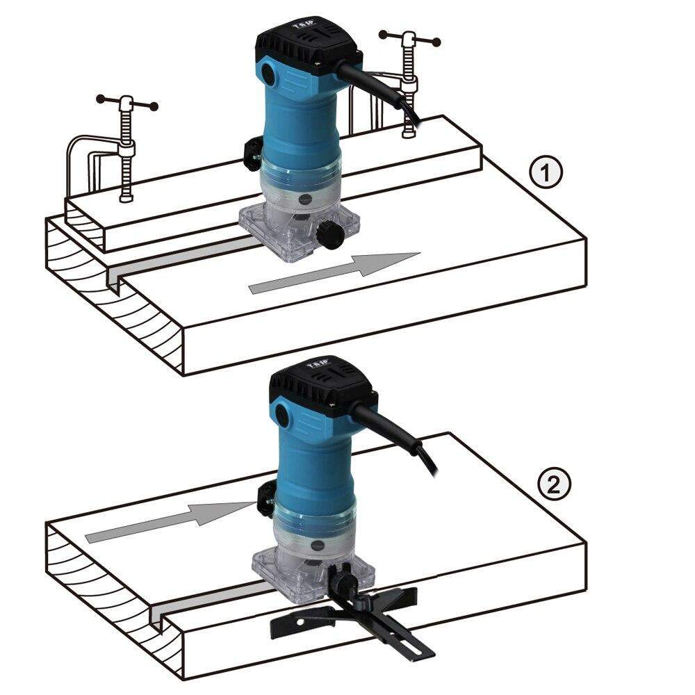 TASP 600 W eléctrico Borde de laminado Trimmer de la madera Mini Router 6,35mm Collet máquina de tallado de carpintería de madera herramientas - 3