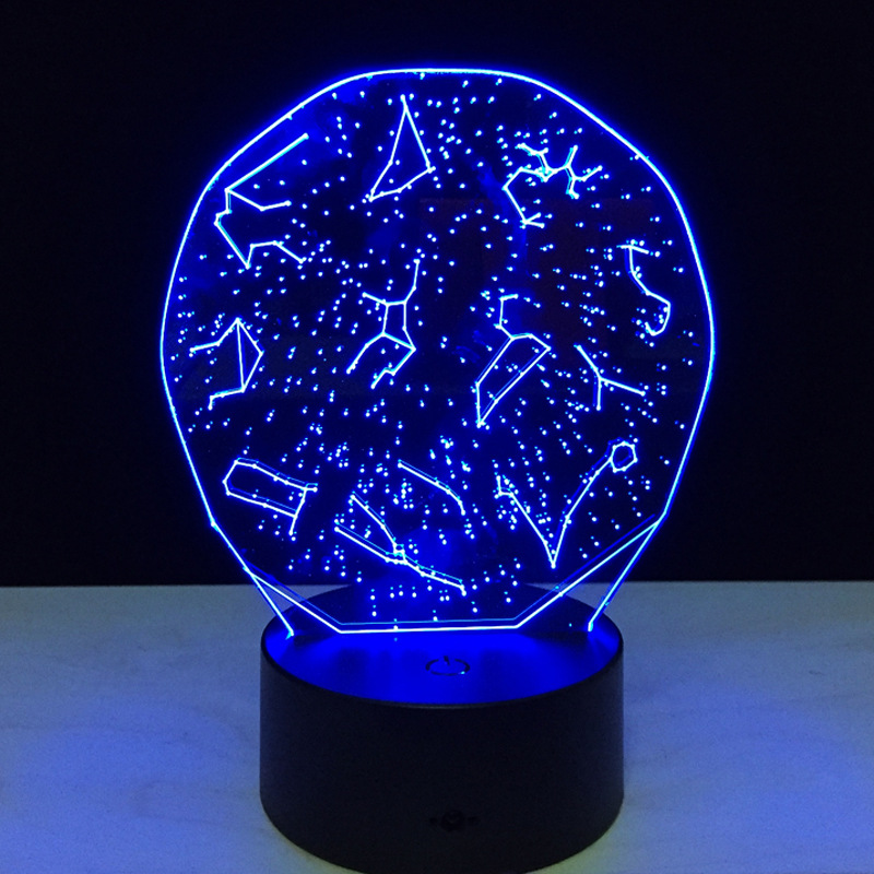 the constellation 3dsmall night light baby 7 color chang bluetooth speakers lights led usb desk. Black Bedroom Furniture Sets. Home Design Ideas