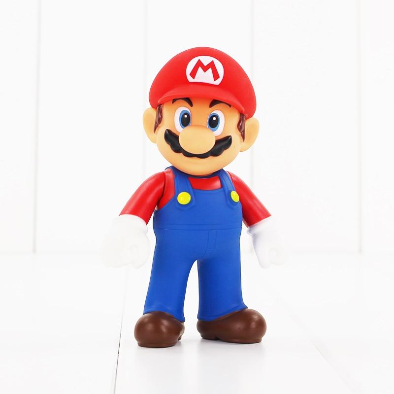 12cm Super Mario Bros Mario Luigi Repairman Mario PVC Figure Cartoon Model Toys Doll For Baby Kids Gifts 1