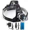Налобный фонарь светодиодный налобный фонарь 2000лм XML T6 налобный фонарь с AC автомобильными зарядными устройствами + 18650 перезаряжаемая батар...