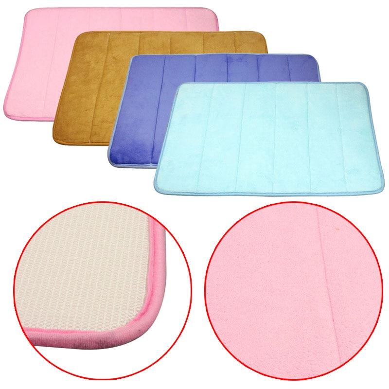 mosunx business 1 pz tappeti da bagno strisce verticali memory foam mat carpet tappetini da bagno