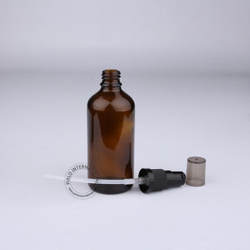 Новое поступление Высокое качество 100 мл бутылка эфирного масла, янтарные стеклянные бутылки для лосьона, коричневый косметический контейнер 10 шт./партия