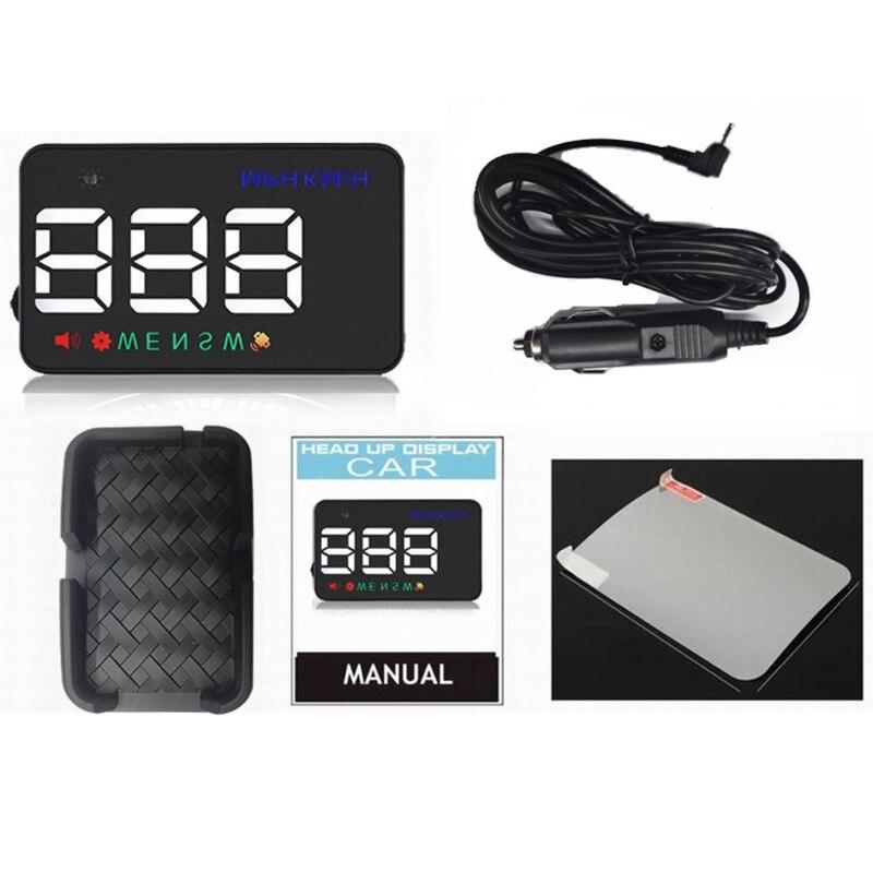 все цены на Free delivery 3.5inch A5 GPS HUD Head Up Display Km/h MPH Digital Speedo Speed Warning Alarm онлайн