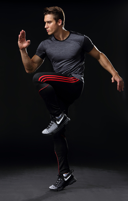Sport Running Pants Men With Pockets Athletic Football Soccer Training Pants Elasticity Legging jogging Gym Trousers 319 3
