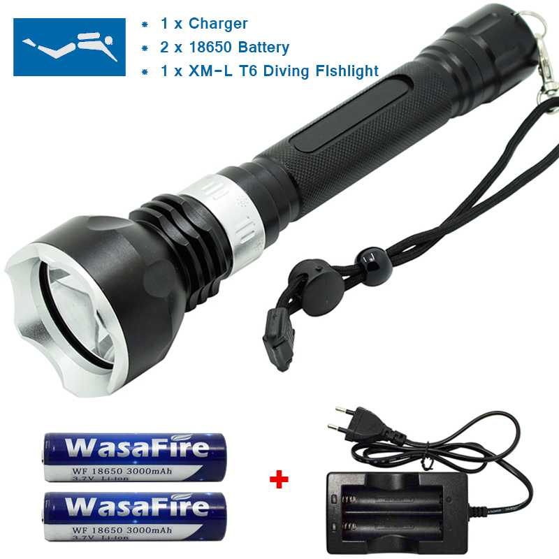 LED Flashlight Waterproof Lantern Torche T6 1600LM Diving Flashlight Underwater Lamp lamp for underwater Diving Torch цена 2017