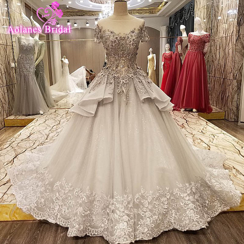 New Vintage Princess Ball Gown Wedding Dresses Beaded: Aliexpress.com : Buy 2017 Real Image Gray Ball Gown